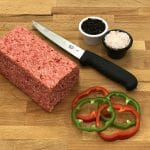 Half Block Unsliced Square Sausage