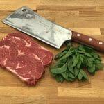Ribeye steak dinner for 2